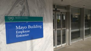 Mayo Clinic food service workers info-picketing over