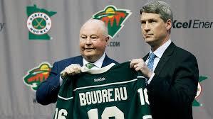 Wild head coach Bruce Boudreau and GM Chuck Fletcher